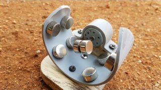 Button Magnet Using Free Energy Generator