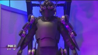 'Iron Man' suit shown at Tampa military conference