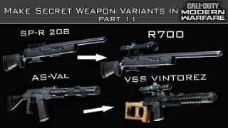 Modern Warfare – How to Create Hidden Weapons in the Gunsmith Part 11