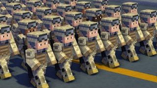 Minecraft Military Hell March Army Animation