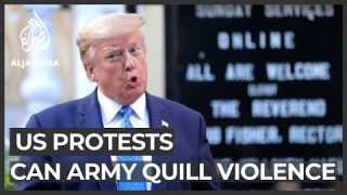 Trump threatens military force, protests intensify